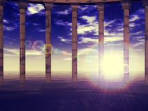 Ancient columns Stock Photos