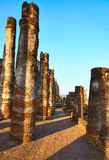 Ancient columns or pillars at Sukhothai Royalty Free Stock Photography