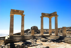 Ancient columns of Rhodes Royalty Free Stock Photography