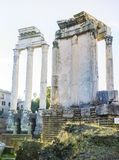 Ancient columns at the Roman Forum, Rome, Italy Stock Images