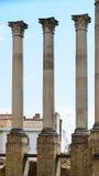 Ancient columns of the Roman temple in Cordoba Stock Photos