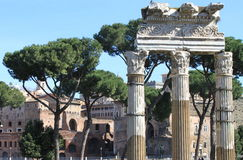 Ancient columns in Rome Stock Image
