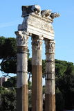 Ancient columns in Rome Stock Photo