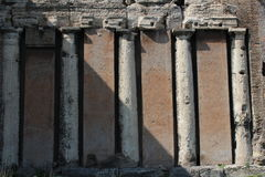Ancient columns in rome Royalty Free Stock Image
