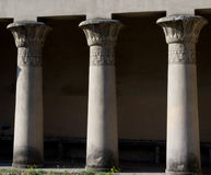 Ancient columns in Rome, Italy. Details of the ancient columns in italian capital Royalty Free Stock Photography