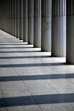 Ancient columns in the row Stock Image