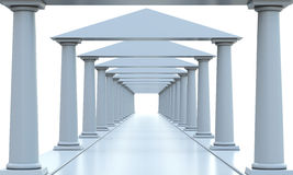 Ancient columns in a rows Royalty Free Stock Photo