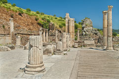 Ancient columns and ruins Stock Image