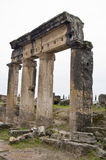 Ancient Columns. Several ancient columns on the ruins of ancient Hierapolis Royalty Free Stock Image