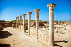 Nea Pafos, Ancient Columns Stock Images