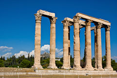The ancient columns Stock Photos