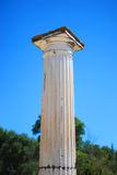 Ancient columns in a sunny summer in Greece. Europe Royalty Free Stock Images