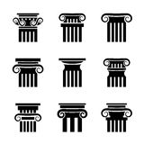 Ancient columns vector icons Stock Images