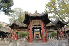 Ancient combo pavilion in xian huajue lane great mosque, adobe rgb. Xian mosque was founded in 1392 ad Stock Photo