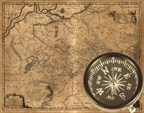 Ancient compass Stock Photography