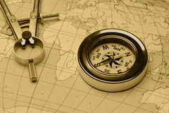 Ancient compass Stock Photo