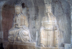 Ancient Confucian & Buddhist sculptures Royalty Free Stock Photography