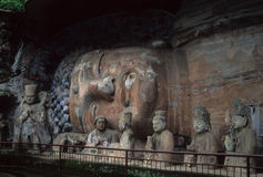 Ancient Confucian & Buddhist sculptures Stock Images