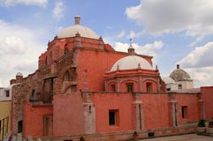 Ancient convent. Church of the city of zacatecas in mexico Royalty Free Stock Photos