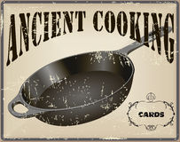 Ancient cooking card Royalty Free Stock Image
