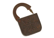 Ancient copper lock Royalty Free Stock Photo