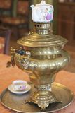 Ancient copper samovar for making tea Royalty Free Stock Images