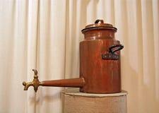 Ancient copper teapot Stock Photo