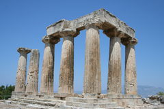 Ancient corinth Stock Photography