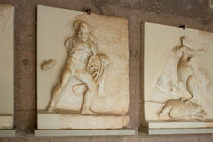 Ancient Corinth, Bas-relief of Hercules in the museum Royalty Free Stock Images
