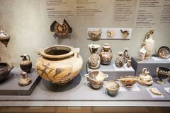 Ancient Corinth in Greece. ANCIENT CORINTH, GREECE - OCTOBER 18, 2016: The Archaeological Museum of Ancient Corinth is a museum in Greece. Ancient Corinth was stock photography