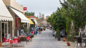 ANCIENT CORINTHE, GREECE - FEBRUARY 17, 2016: Overview main street Stock Photo