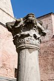 Ancient Corinthian column Stock Images