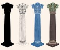Ancient Corinthian Column Illustration Vector Stock Photography