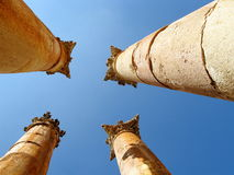 Ancient Corinthian columns Royalty Free Stock Photos