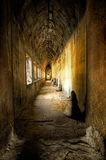 Ancient corridor royalty free stock image