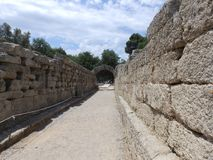 Ancient corridor royalty free stock photos