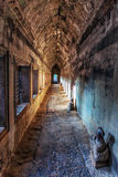 Ancient corridor at Angkor Wat Royalty Free Stock Photography