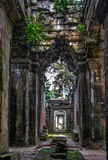 Ancient corridor at Angkor Wat Stock Images