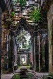 Ancient corridor at Angkor Wat Stock Image