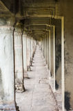 Ancient corridor at Angkor Wat Royalty Free Stock Image