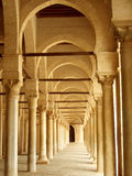 Ancient Corridor in Tunisia. Ancient long corridor in Tunisia stock photography