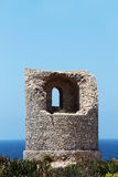 Ancient costal watchtower, capo rama, sicily Royalty Free Stock Photos