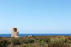 Ancient costal watchtower, capo rama, sicily Stock Images