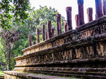 Ancient Council Chamber in Polonnaruwa, Sri Lanka Stock Image