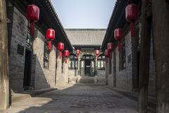 Ancient courtyard. This is China 's famous Shanxi Merchants House - Qiao Family Courtyard Stock Photos
