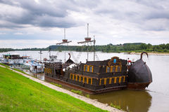 Ancient criuse ship on the Vistula river Stock Photos