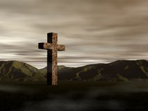 An ancient cross Stock Image
