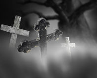 Ancient cross on cemetery Royalty Free Stock Photo