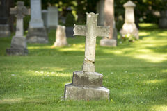 Ancient Cross Headstone Stock Photography