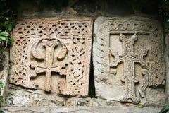 Khachkars or cross-stones royalty free stock photos